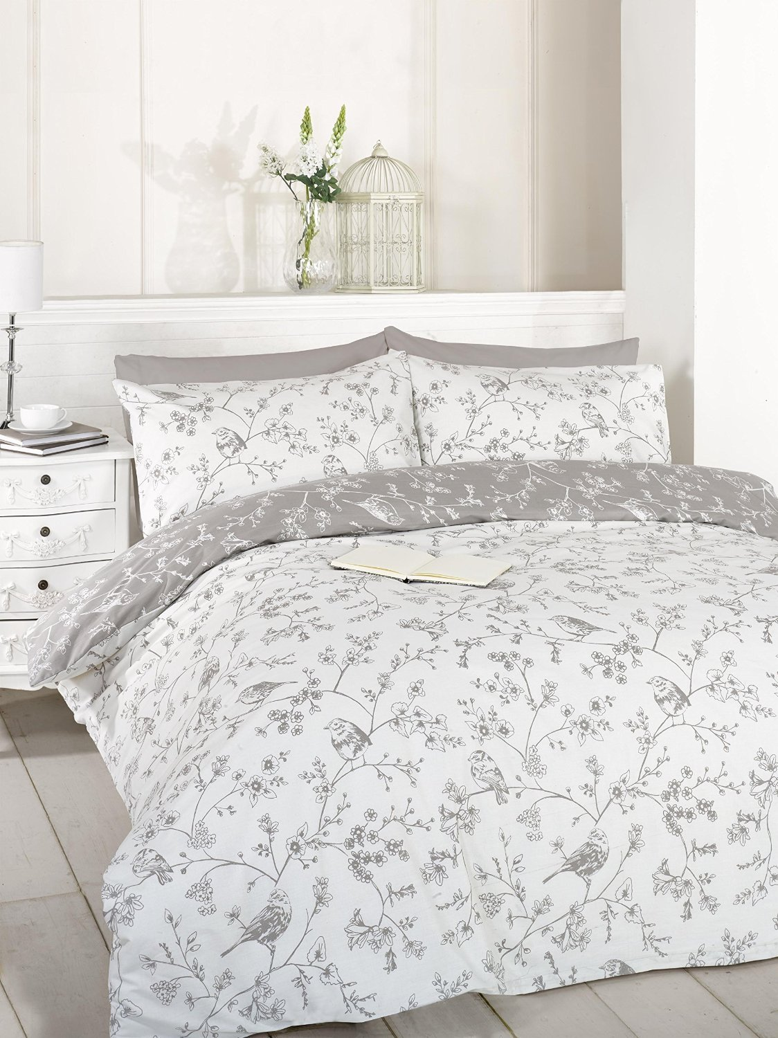 mary multi printed vantona duvet cover vintage floral flower set
