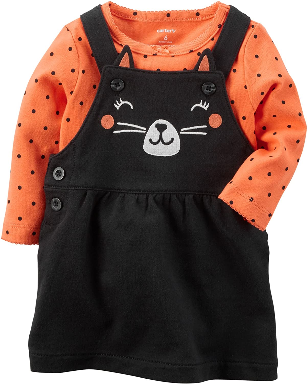 Carters Baby Girls 2 Piece Cat Bodysuit And Jumper Set 5 In 1 Clothing