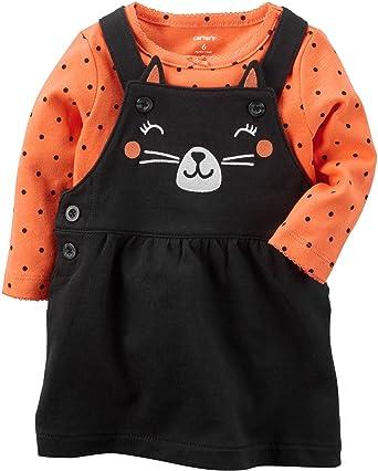 108aefcda6d2 Amazon.com  Carter s Baby Girls  2 Piece Cat Bodysuit and Jumper Set ...
