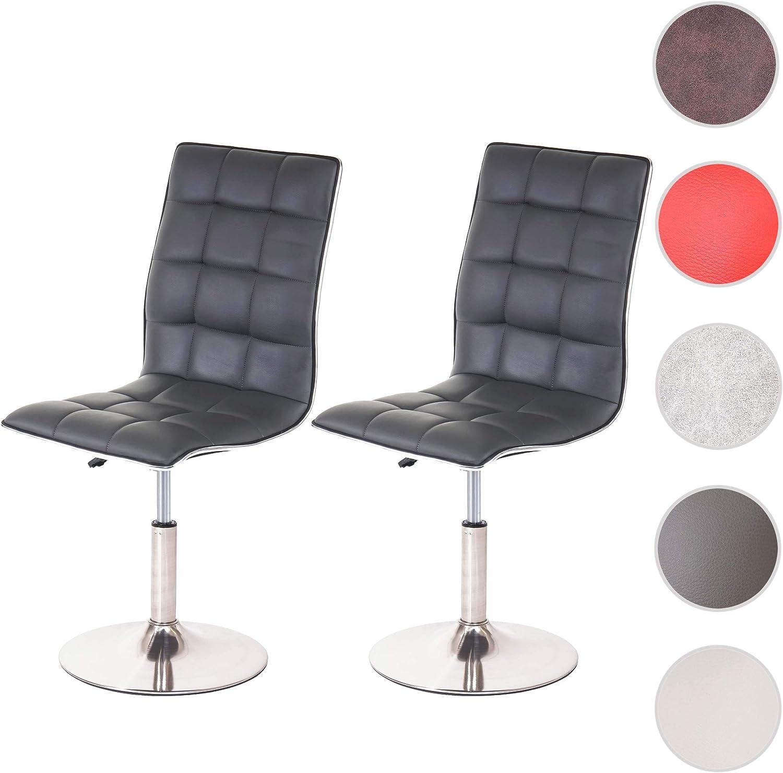 2x Esszimmerstuhl HWC-C41 Stuhl Lehnstuhl Kunstleder oder Textil Fuß gebürstet