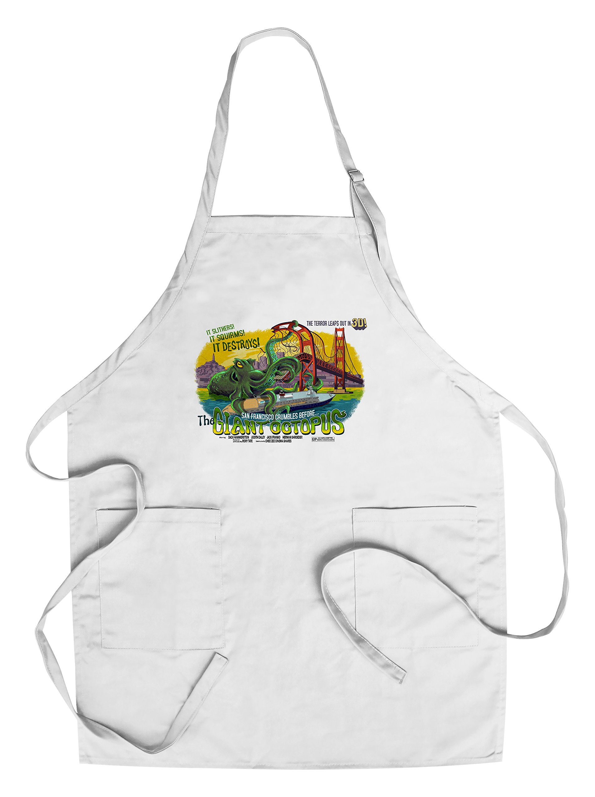 San Francisco, California - The Giant Octopus - B Movie Poster (Cotton/Polyester Chef's Apron)