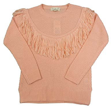 bba6f253b Amazon.com  Pink Republic Big Girls (7-16) Fringe-Front Sweater ...