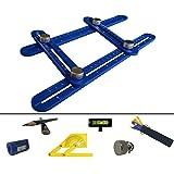 Universal Angularizer Template Tool | Adjustable Aluminum Alloy Multi Angle Measuring Ruler | Professional Any Angle Metal Multi Function Construction Ruler Set