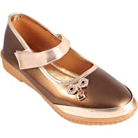 Rgk's Brown Long Shoes Mary Jane Shoes Sandals Slippers Booties for Baby Girls of 3 Years | 4 Years | 5 Years | 6 Years | 7 Years | 8 Years | 9 Years