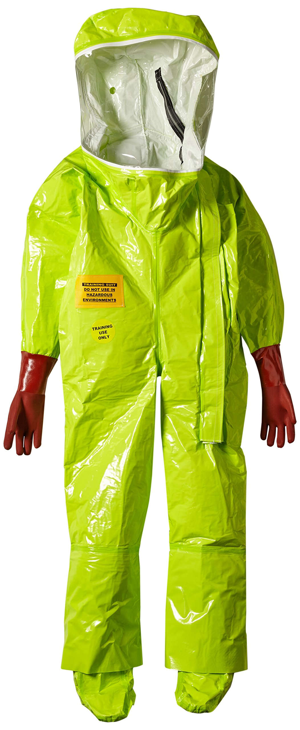 Dupont TK586TLYLG000100 EncapTrainSuit, Expanded Back, Front Entry, Taped Seams, Large, Lime Yellow