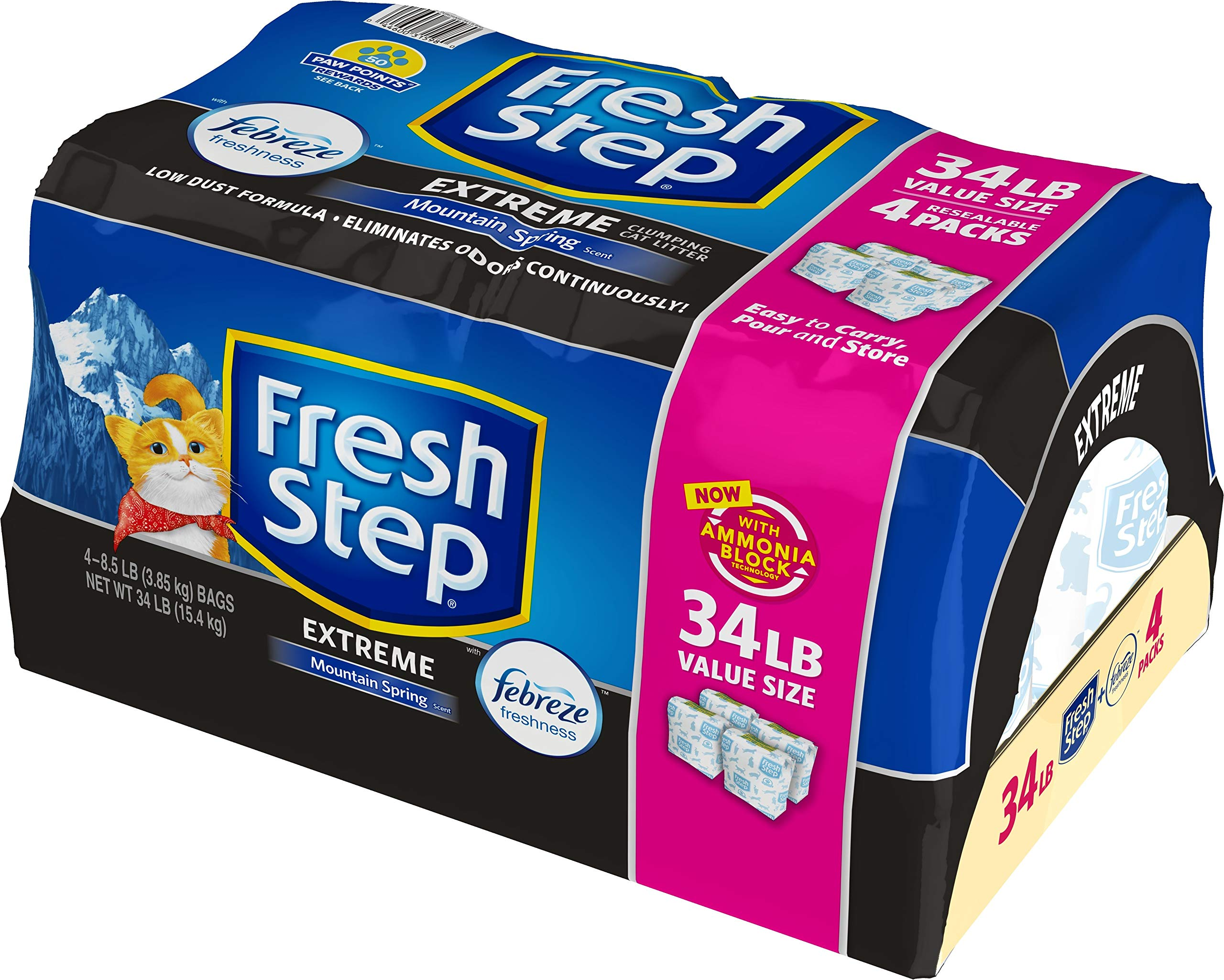 Fresh Step Extreme with Febreze Freshness, Clumping Cat Litter, Scented, 34 Pounds by Fresh Step