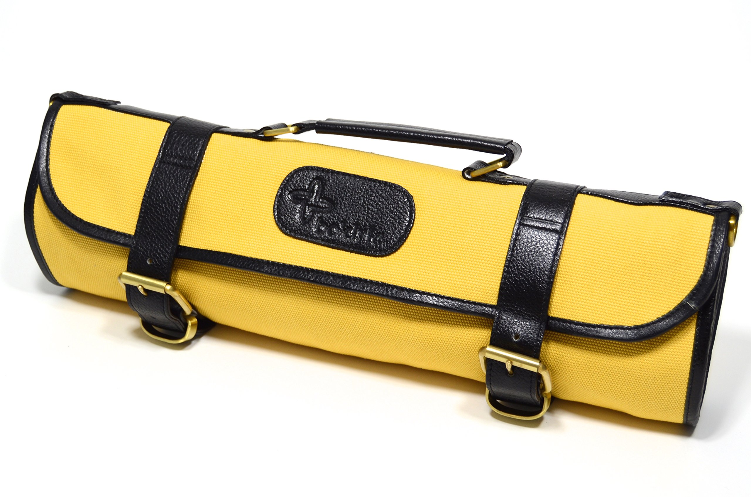 Boldric 9 pocket Canvas Roll Knife Bag Yellow