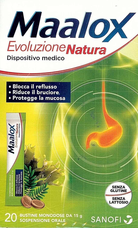 Maalox Evoluzione Natura, 20 bustine dosis única da 15 g, (como Gaviscon): Amazon.es: Salud y cuidado personal
