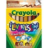 Crayola 58-8336 – I wasmiddel met 8 viltstiften, Maxi-tip, meerkleurig – model/kleuren gesorteerd, 1 stuk