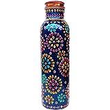 Rastogi Handicrafts Pure Copper Water Bottle for Ayurvedic Health Benefits (Joint Free & leak proof),Blue