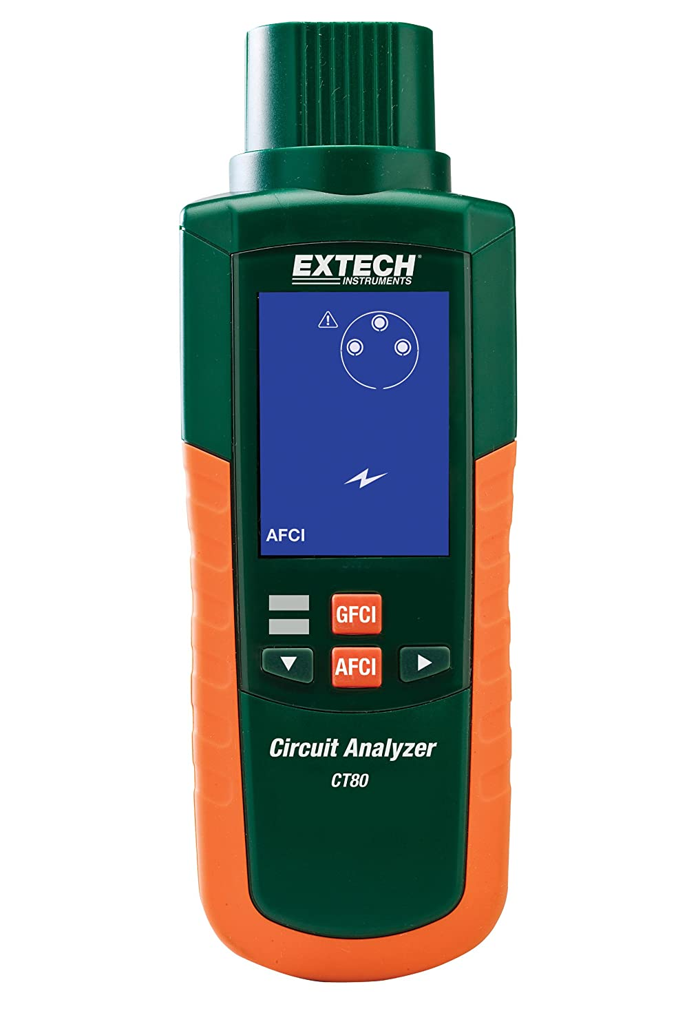 Extech Ct80 Ac Circuit Load Tester With Gfci Afci Portable Ground Fault Interrupter W Four 15 A Breaker