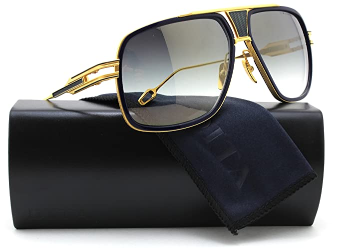 fa499187938 Image Unavailable. Image not available for. Colour  DITA DRX 2077  Grandmaster Five Sunglasses Navy Gold ...