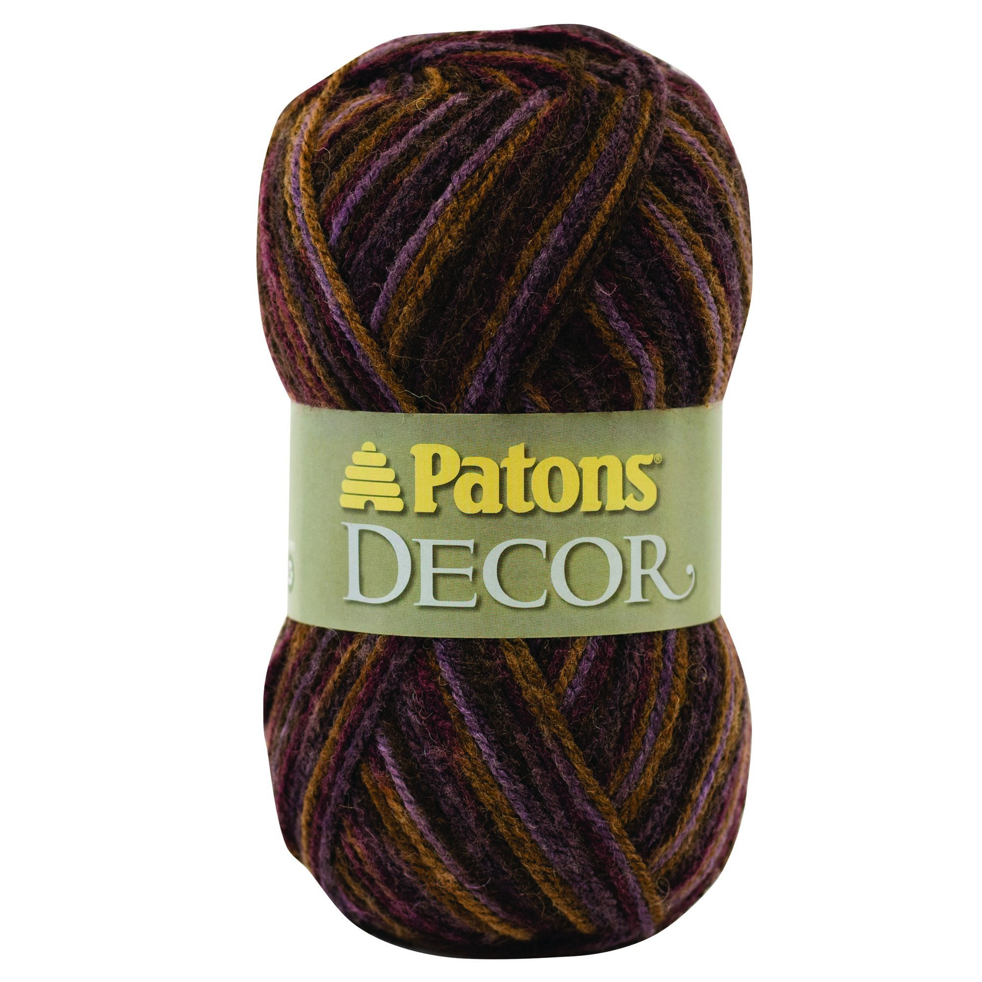Patons  Decor Yarn - (4) Medium Worsted Gauge  - 3.5oz -  Tapestry  -   For Crochet, Knitting & Crafting