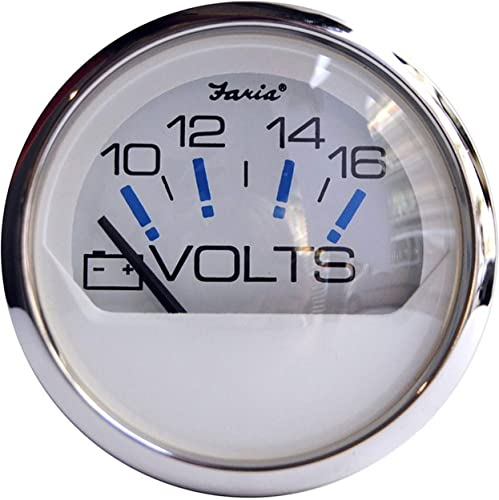 Stainless Steel Boat Marine Voltmeter Gauge [Faria] Picture