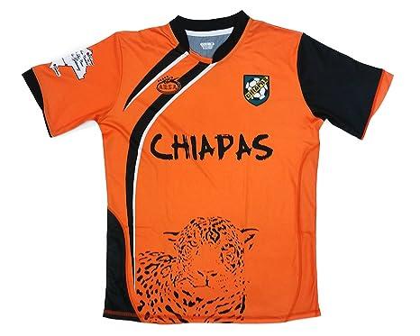 eeac5621baa Chiapas Mexico Soccer Jersey Color Orange and Black Arza Design (Medium)