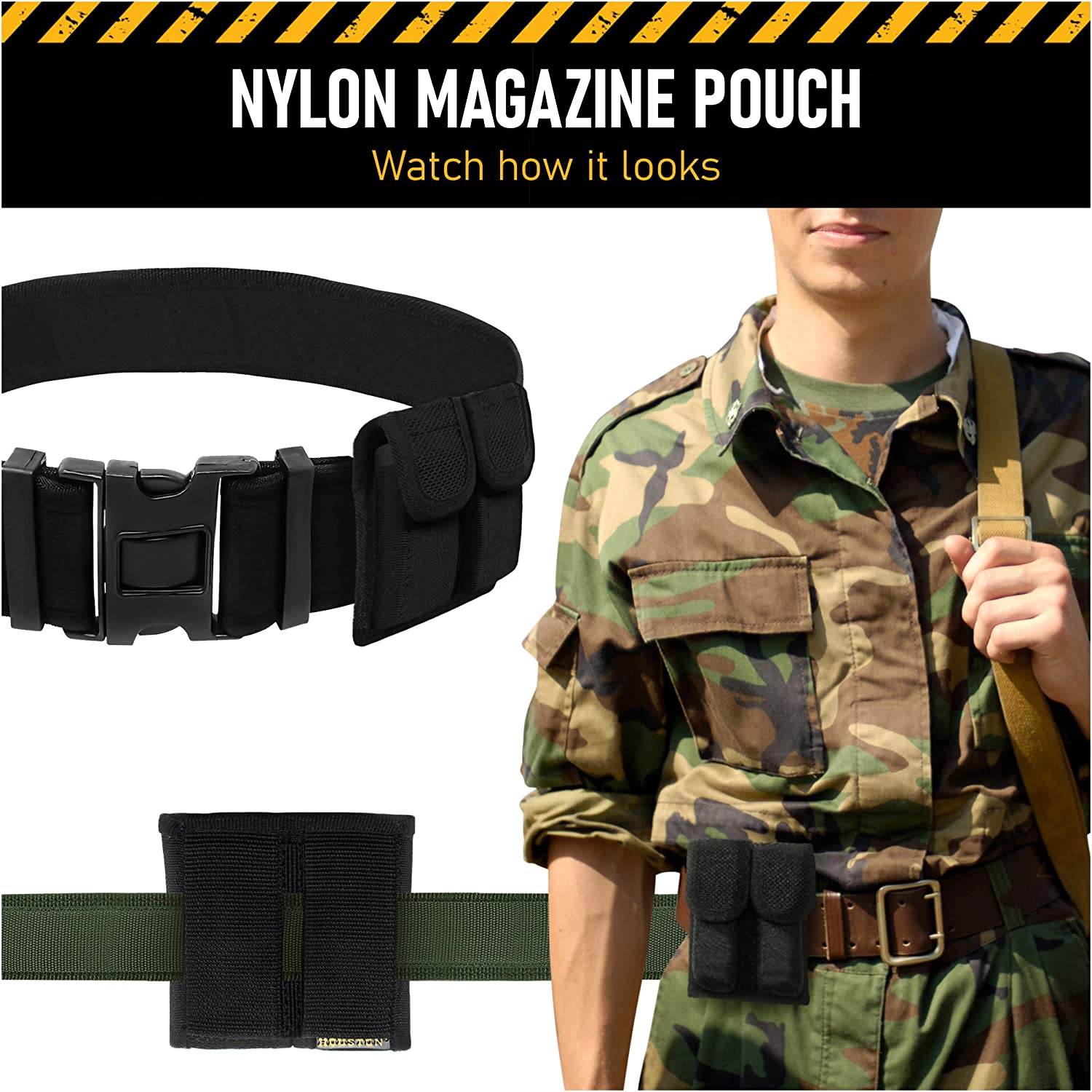 Details about  /Galls Double Magazine Pouch Nylon Mag Carrier for Double Stack Magazine