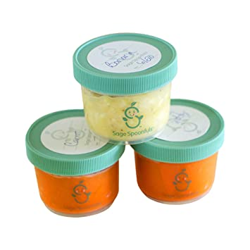 Amazoncom Baby Food Storage Containers Sage Spoonfuls Mini 4oz