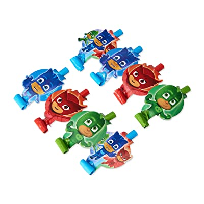 American Greetings PJ Masks Party Blowers, 8-Count - 331741: Kitchen & Dining
