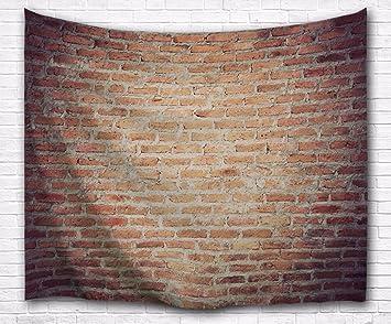 Schön A.Monamour Wanddekor Wohnaccessoires Deko Wandteppiche Grunge Getragen Rot  Backstein Betonwand Hintergründe Abstrakte Bild Drucken