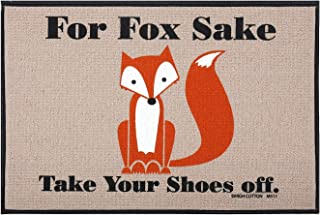 "product image for HIGH COTTON for Fox Sake Doormat - Funny Olefin Welcome Mat - 27"" x 18"" Door Mat"