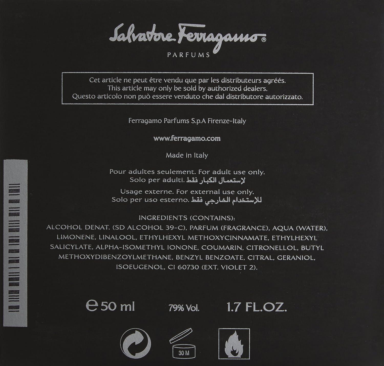 Salvatore Ferragamo F Black Eau De Toilette Spray for Men, 1.7 Fl Oz