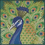 Proud Peacock Beaded Counted Cross Stitch Kit Mill Hill 2020 Buttons & Beads Spring MH142016