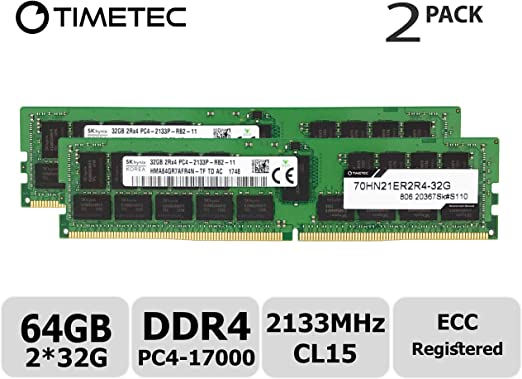 RDIMM 32GB Memory for ASUS Z10PA-D8 Motherboard DDR4 2133MHz 2RX4 PARTS-QUICK Brand