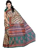 Roopkala Silks & Sarees Women's Cotton With Blouse Piece (Ma-1026_Beige)
