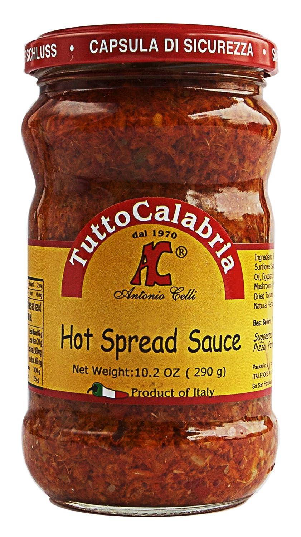 Amazon.com : Tutto Calabria Hot Spread Sauce, 10.2 oz : Grocery ...