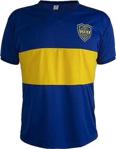 Camiseta Boca Juniors Retro del Fútbol Hombrega Corta para Hombre ...