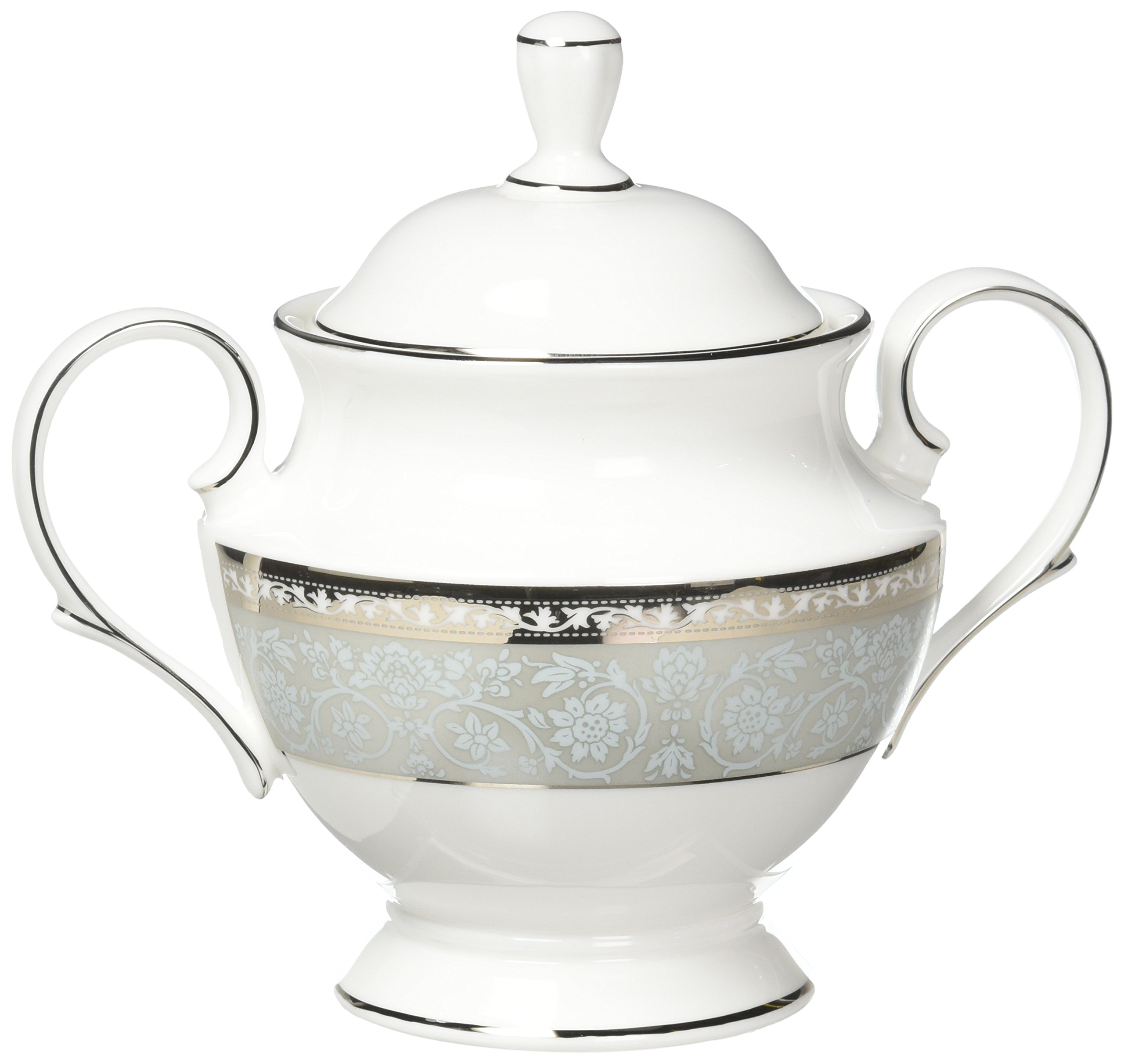 Lenox 858279 Westmore Sugar Bowl with Lid, White