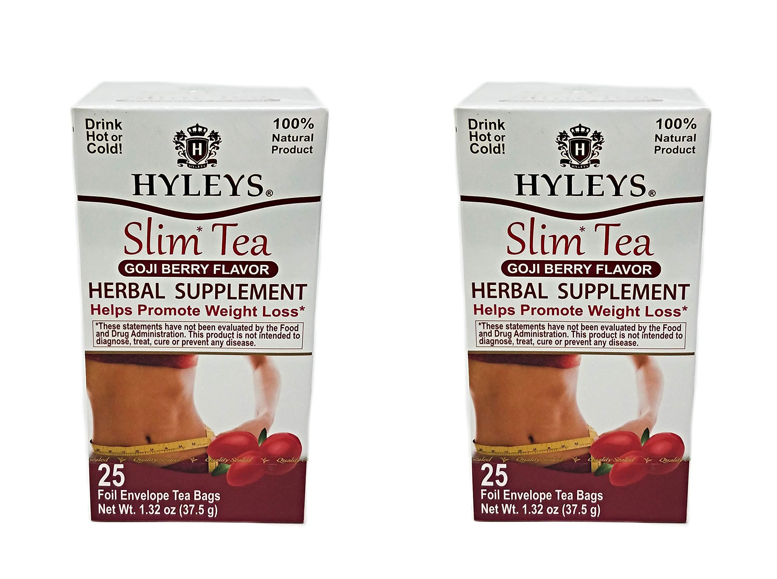 Hyleys Slim Tea Goji Berry 25 Bags Pack Of 2 Buy Online In