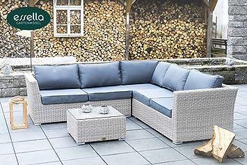 AuBergewohnlich Polyrattan Lounge U0026quot;Bostonu0026quot; 5 Personen   Rundgeflecht   Vintage  Weiss