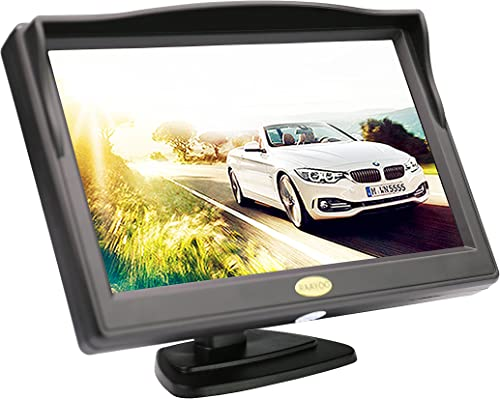 Backup Camera Monitor,RAAYOO S5-001 5 inch High Definition TFT LCD Monitor Display Screen for Car Rear View Camera with 2 Optional Bracket,2 Way Video Input,12V 24V 5 inch-01