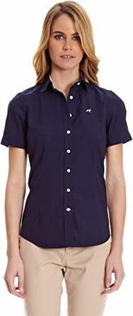 Sacoor Brothers Camisa Mujer Opal Azul Oscuro L: Amazon.es ...