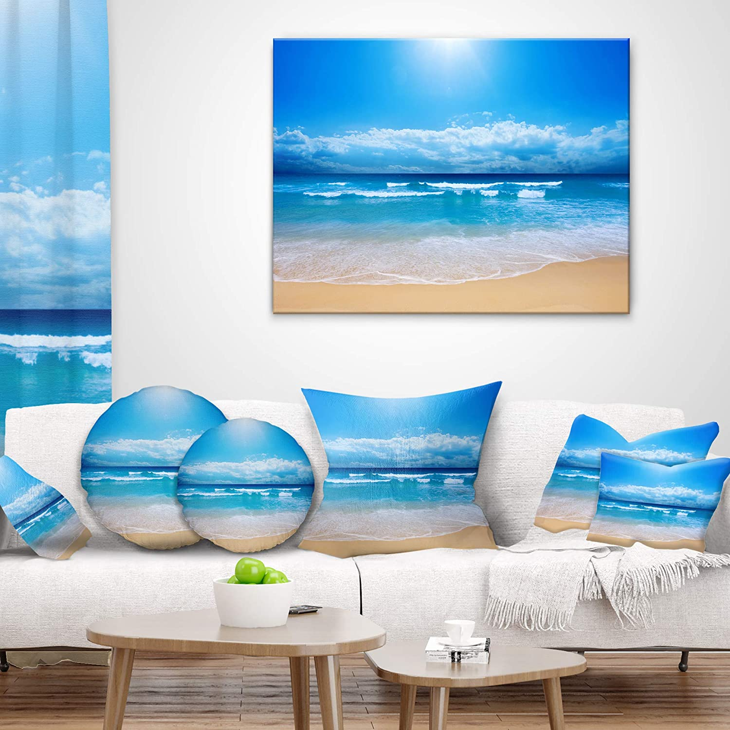 Incredible Designart Cu6808 12 20 Paradise Beach Seascape Photography Ibusinesslaw Wood Chair Design Ideas Ibusinesslaworg