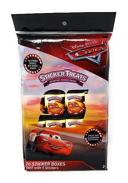 Amazoncom Disney Pixar Cars Valentines Sticker Boxes Count 20