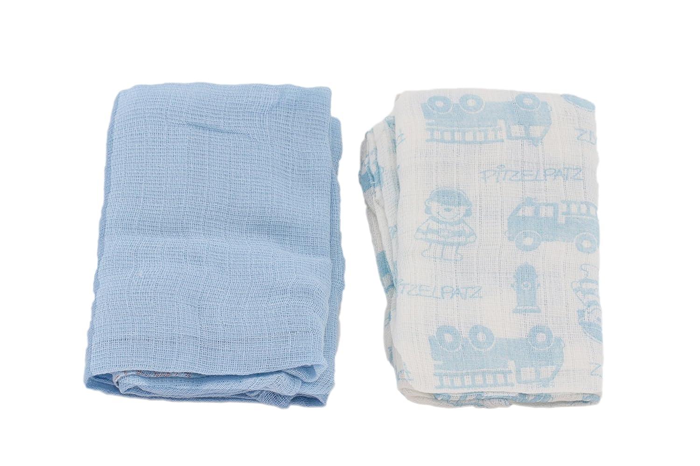 Farbe Baby Mullwindel 2er Pack Pitzelpatz Spuckt/ücher f/ür Jungen Baumwolle Blau Vorteilspack von Steinbeck