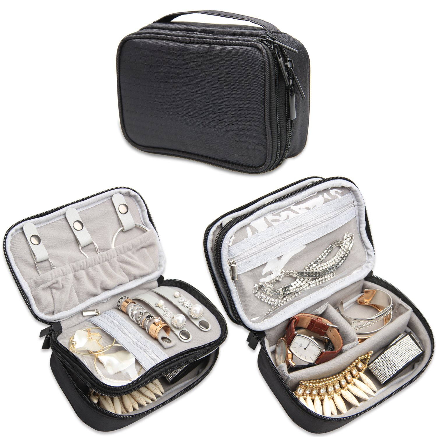 Teamoy Travel Jewelry Organizer Case Jewelry Accessories Holder