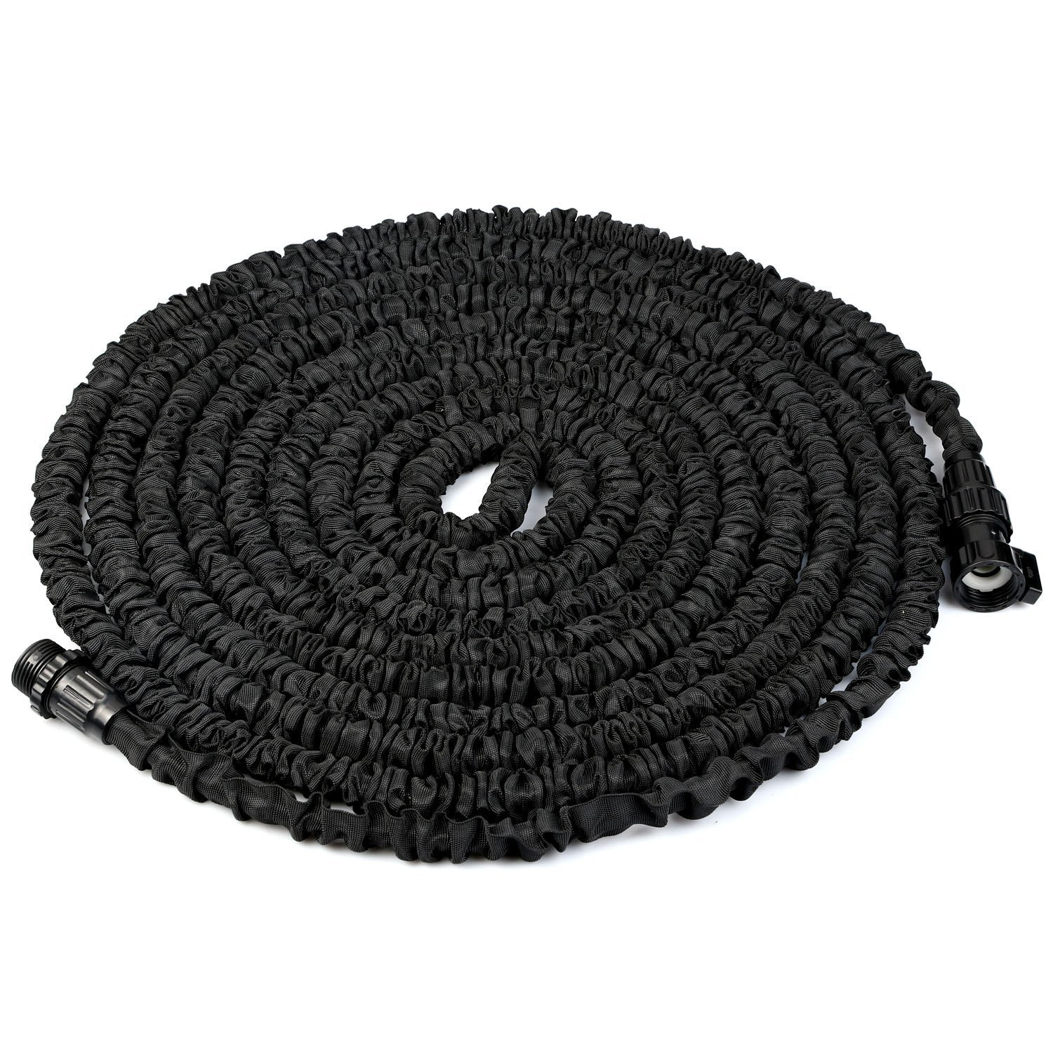 TINANA 75FT Expandable Garden Hose, Lightweight and Durable Expanding Garden Hose with Triple Layer Latex Core & Latest Improved Extra Strength Fabric Protection for All Your Watering & Car Wash Use