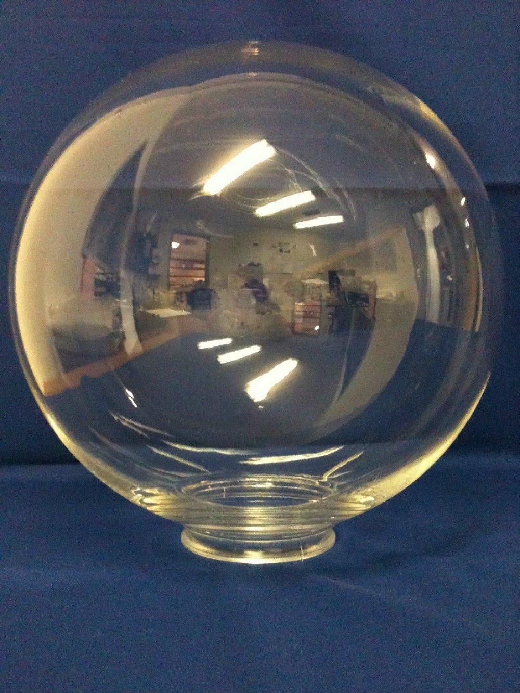 12'' CLEAR Acrylic Plastic Light Round Globe Lamp fixture