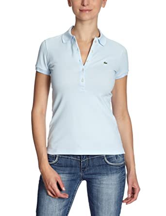 Lacoste Damen Shirt  Poloshirt PF169E-00, Gr. 40, Blau (RUISSEAU T01)   Amazon.de  Bekleidung 263f459b0f