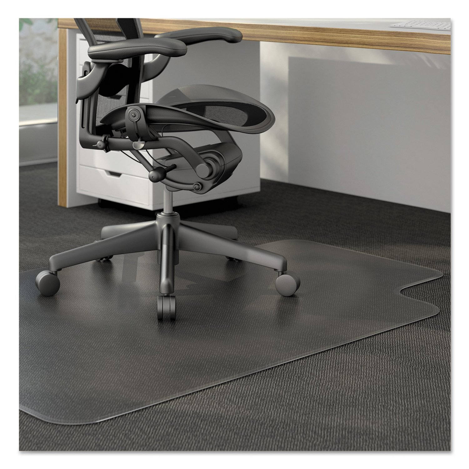 Amazoncom Universal Cleated Chair Mat For Low And Medium - Computer chair mat for carpet