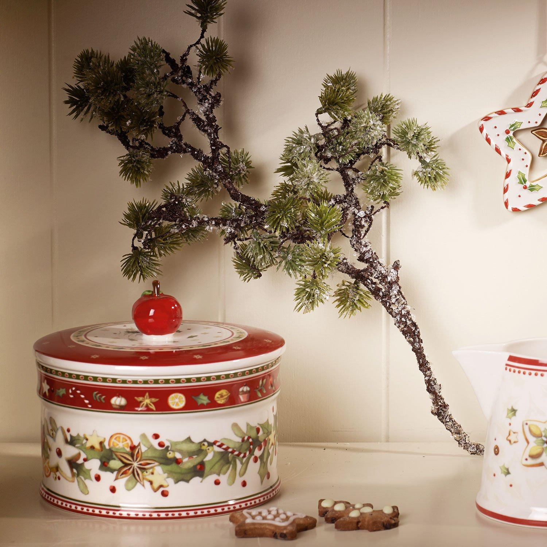 Villeroy & Boch Winter Bakery Delight Caja mediana para pastas, Porcelana Premium, Blanco/Rojo: Amazon.es: Hogar