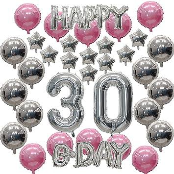 FE.OFF Juego de decoración para Fiesta de 30 cumpleaños ...