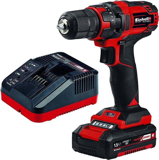 Einhell Taladro destornillador inalámbrico TC-CD 18/35 Li Power X-Change (18V, incluye batería de 1,5 Ah y cargador) (ref.4513914): Amazon.es: Bricolaje y herramientas