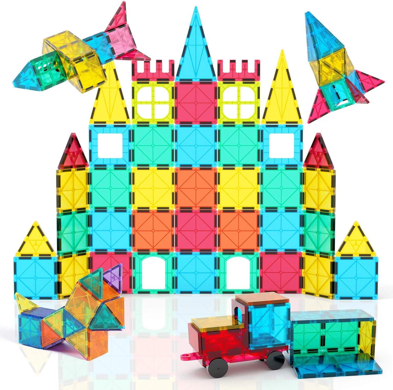Jasonwell 42//84pcs Magnetic Blocks Kids Children/'s Bulding Tiles 3+ Two