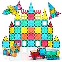 Jasonwell 65 PCS Magnetic Tiles Building Blocks Set for Boys Girls Preschool Educational Construction Kit Magnet…
