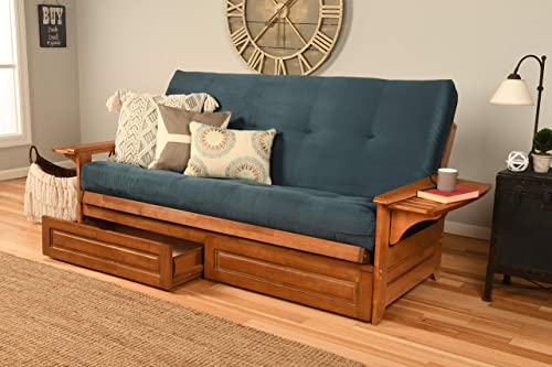 Kodiak Furniture Phoenix Futon, Full Size, Suede Navy