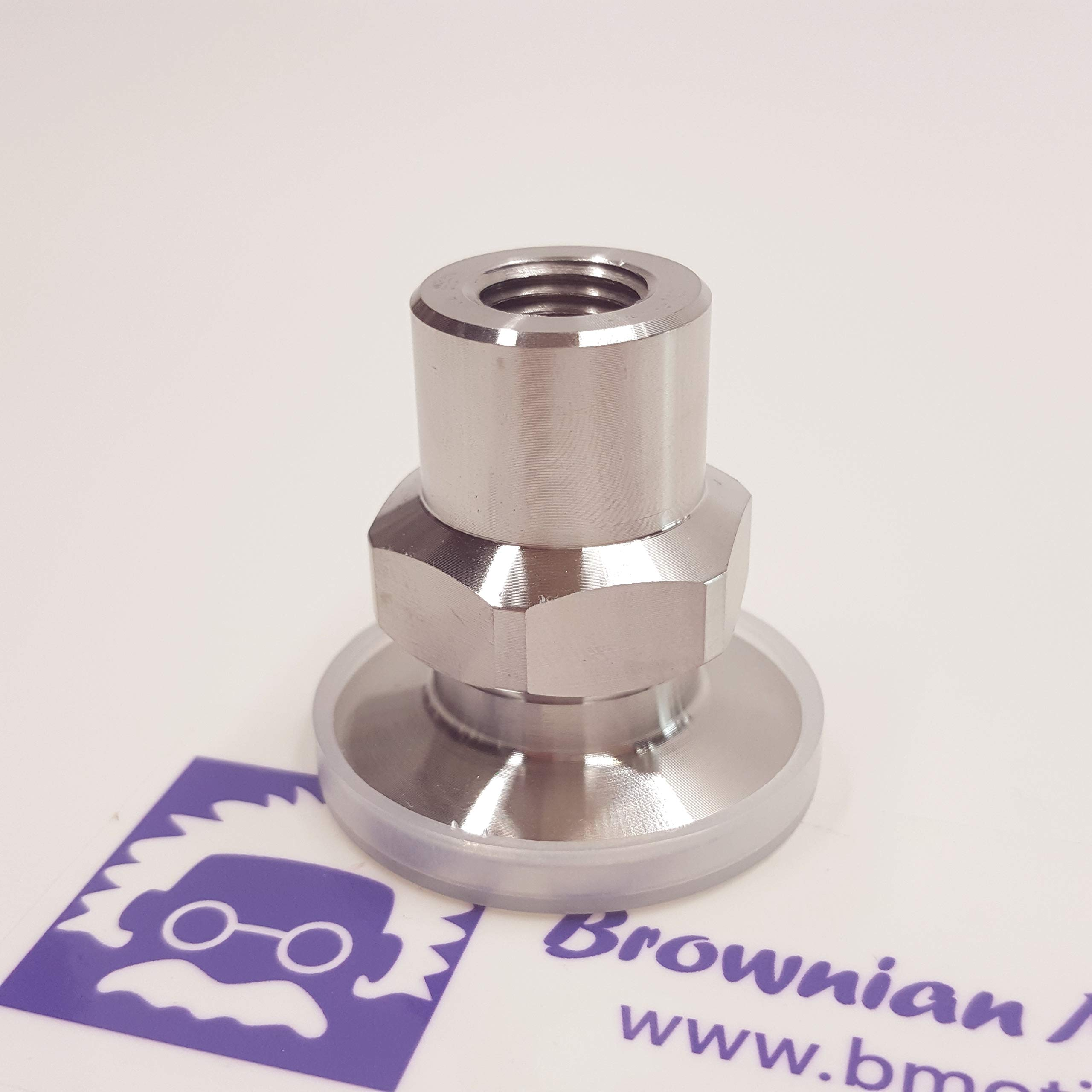 """_BMT_ True 1/4"""" FNPT X KF25 Flange Vacuum Adapter, Made of SS304, Strictly Follow NPT Standard, 18 Threads per inch, 60 Degree Thread Angle"""